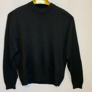 Tulliano Black Long Sleeve Textured Sweater. Sz XL